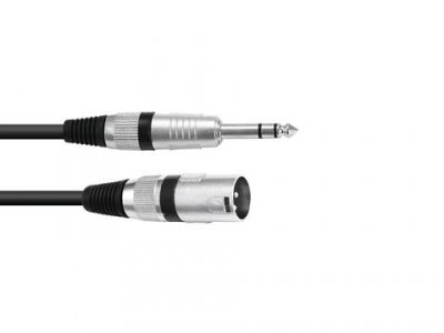 Omnitronic Adaptercable XLR M/ Jack stereo 2m BK